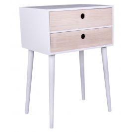 Bílý dřevěný noční stolek Nordic Living Feda