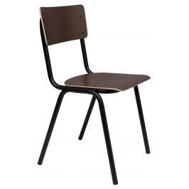 Matná hnědá jídelní židle ZUIVER BACK TO SCHOOL