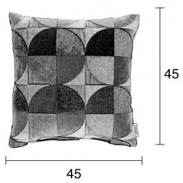 Petrolejový polštář ZUIVER CLUB s geometrickými vzory