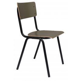 Matná olivová jídelní židle ZUIVER BACK TO SCHOOL