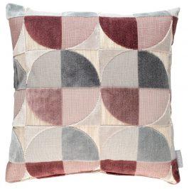 Růžový polštář ZUIVER CLUB s geometrickými vzory