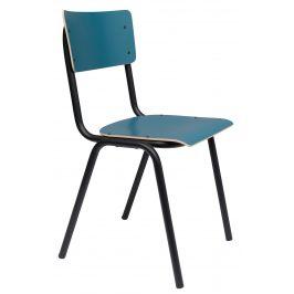 Matná petrolejová jídelní židle ZUIVER BACK TO SCHOOL