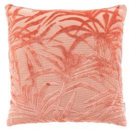 Růžový polštář ZUIVER MIAMI s palmovým motivem