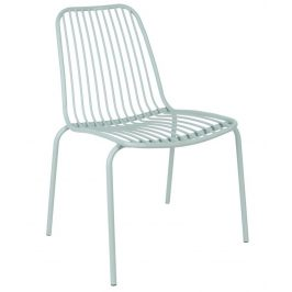 Time for home Zelená kovová židle Liner