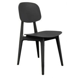 Time for home Černá plastová jídelní židle Corin