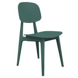 Time for home Lahvově zelená plastová jídelní židle Corin