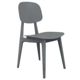 Time for home Šedá plastová jídelní židle Corin