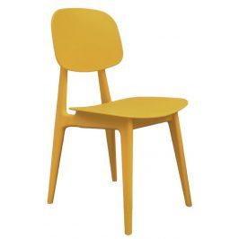 Time for home Hořčicově žlutá plastová jídelní židle Corin
