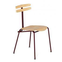 Bordová dřevěná židle Tabanda Trojka I.