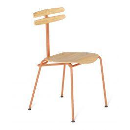 Oranžová dřevěná židle Tabanda Trojka I.