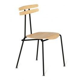 Černá dřevěná židle Tabanda Trojka II.