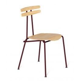 Bordová dřevěná židle Tabanda Trojka II.