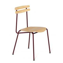 Bordová dřevěná židle Tabanda Trojka III.