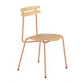 Oranžová dřevěná židle Tabanda Trojka III.
