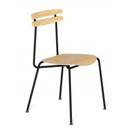 Černá dřevěná židle Tabanda Trojka III.