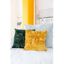 Žlutý polštář ZUIVER MIAMI s palmovým motivem
