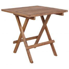 Nordic Living Přírodní jídelní stůl Jai 50x50 cm