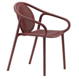Pedrali Červená plastová jídelní židle Remind 3735