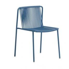 Pedrali Modrá kovová zahradní židle Tribeca 3660