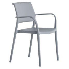 Pedrali Šedá plastová židle Ara 315