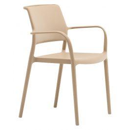 Pedrali Krémová plastová židle Ara 315