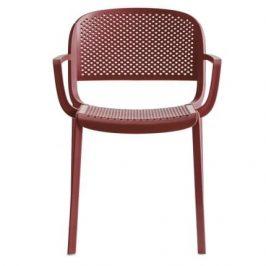 Pedrali Červená plastová židle Dome 266