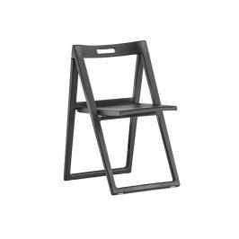 Pedrali Černá plastová skládací židle Enjoy 460