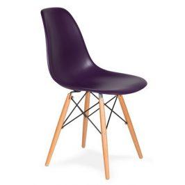 Culty Gold Fialová plastová židle DSW