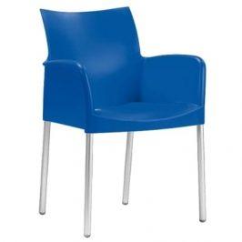 Pedrali Modré plastové křeslo Ice 850