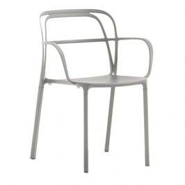Pedrali Šedá kovová židle Intrigo 3715