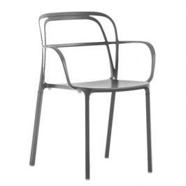 Pedrali Tmavě šedá kovová židle Intrigo 3715