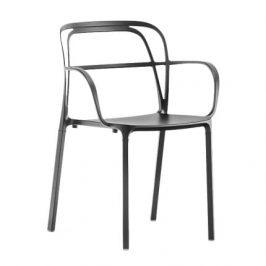 Pedrali Černá kovová židle Intrigo 3715