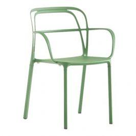 Pedrali Zelená kovová židle Intrigo 3715