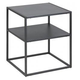 SCANDI Černý noční stolek Renna