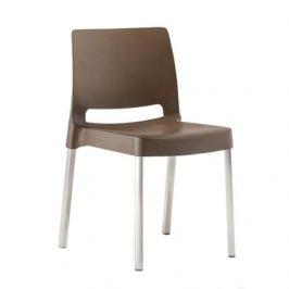 Pedrali Hnědá plastová židle Joi 870