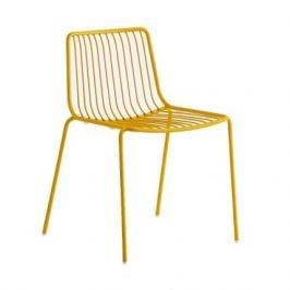 Pedrali Žlutá kovová židle Nolita 3650