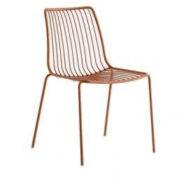 Pedrali Hnědá kovová židle Nolita 3651