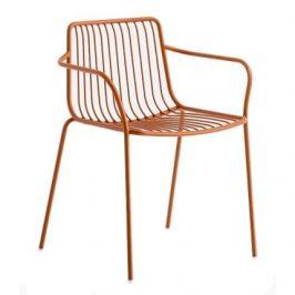 Pedrali Hnědá kovová židle Nolita 3655 s područkami