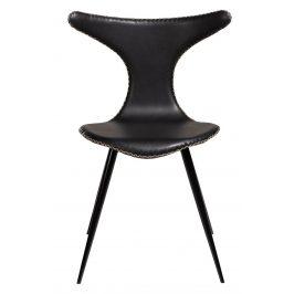 DAN-FORM Černá čalouněná vintage židle DanForm Dolphin