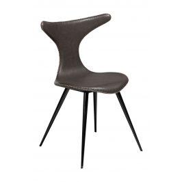 DAN-FORM Tmavě hnědá čalouněná vintage židle DanForm Dolphin
