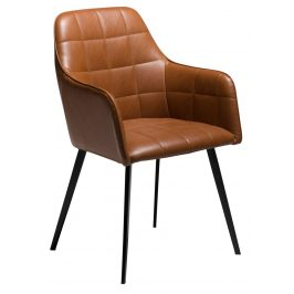 DAN-FORM Koňaková čalouněná vintage židle DanForm Embrace