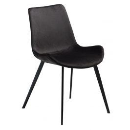 DAN-FORM Antracitová sametová židle DanForm Hype