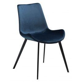 DAN-FORM Modrošedá sametová židle DanForm Hype