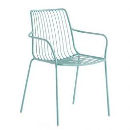 Pedrali Tyrkysová kovová židle Nolita 3656 s područkami