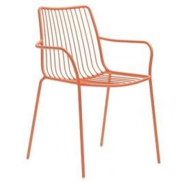 Pedrali Cihlová kovová židle Nolita 3656 s područkami