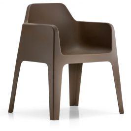 Pedrali Hnědá plastová židle Plus 630