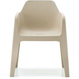Pedrali Krémová plastová židle Plus 630