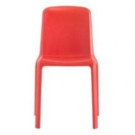 Pedrali Červená plastová jídelní židle Snow 300