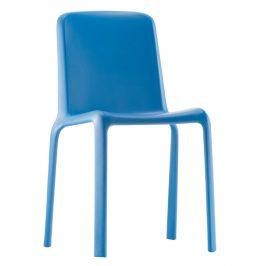 Pedrali Modrá plastová jídelní židle Snow 300
