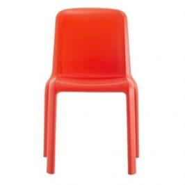 Pedrali Dětská červená plastová židle Snow 303